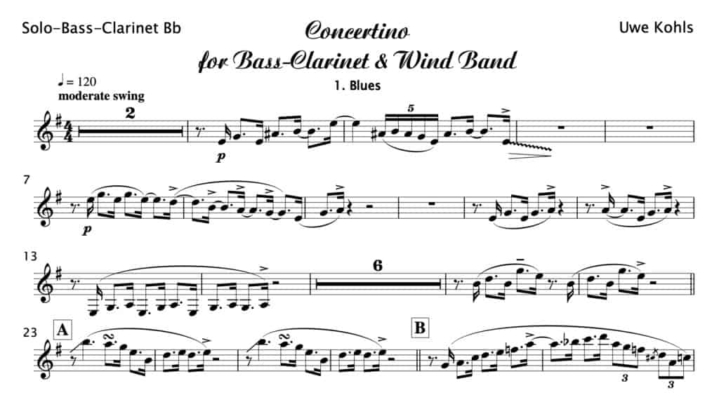 Concertino for Bass-Clarinet and Wind Band