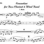 Concertino for Bass-Clarinet and Wind Band von Uwe Kohls