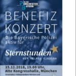 Benefizkonzert des Polizeiorchesters Bayern für Sternstunden
