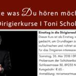 """Dirigierkurs mit Toni Scholl: """"Zeige was du hören möchtest"""""""