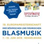 19. Europäische Meisterschaften der böhmischen und mährischen Blasmusik 2018 in Nesselwang