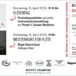 Flötentag und Meisterkurs mit Birgit Rams-Gaal bei Buffet Crampon
