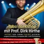 Tuba-Workshop mit Prof. Dirk Hirthe im Rahmen der Mid Europe