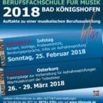 Infotag der Berufsfachschule für Musik Bad Königshofen