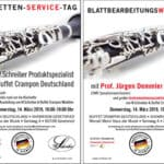 Klarinetten-Service-Tag und Blattbearbeitungsworkshop mit Prof. Jürgen Demmler