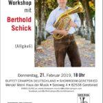 Tenorhorn- & Bariton-Workshop mit Berthold Schick