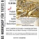 Pflege-Workshop für tiefes Blech bei Buffet Crampon