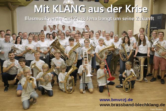 Blasmusikverein Carl Zeiss Jena bittet um Unterstützung