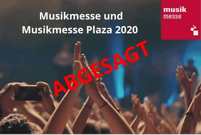 Musikmesse abgesagt