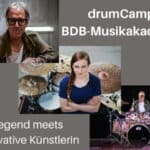 drumCamp BDB-Musikakademie: Legende meets innovative Künstlerin